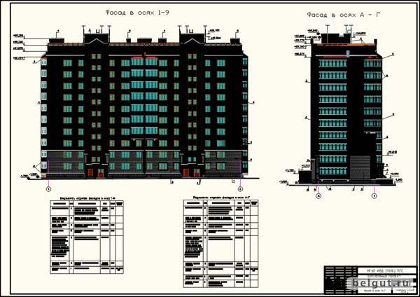 Дипломы и дипломные проекты для студентов строительных ВУЗов по  Диплом ПГС многоэтажный жилой дом чертежи
